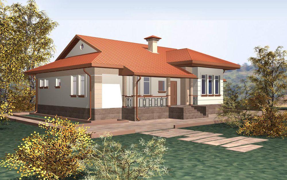 Дом из бруса 6х12 метров одноэтажный с